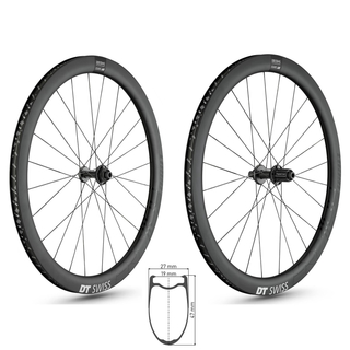 DT SWISS ERC 1100 DICUT db 47 ROAD Disc Carbon Laufradsatz Clincher 12x100mm & 12x142mm Shimano